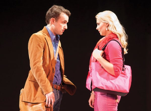 Trey Compton and Lara Hayhurst in Pittsburgh Musical Theater's Legally Blonde.