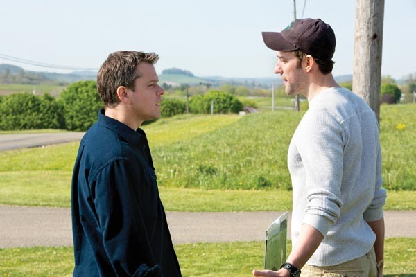 Trouble in a promised land: Matt Damon and John Krasinski
