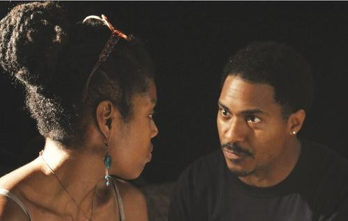 Tyla Abercrumbie (left) and Ben Cain in Pittsburgh Playwrights' King Hedley II - PHOTO COURTESY OF AARON MCCLENDON