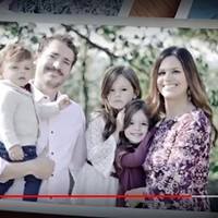 Natalie Mihalek (right) with her family, as seen in Florida congressional ad.