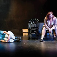 Sean Duggan and Samantha A. Camp in Pittsburgh New Works Festival's <i>Astronaut (or Frantic Action) </i>  by Shelby Solla