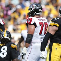 T.J. Watt reacts on a defensive stop early.