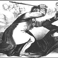 The caning of Charles Sumner, 1856