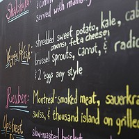 The menu at Nu: A Modern Jewish Bistro