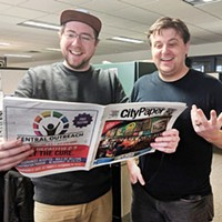<i>Pittsburgh City Paper </i>managing editor Alex Gordon and digital media manager Josh Oswald