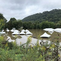 Tents under water at this year's Pittsburgh Irish Festival