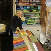 Stefani Danes at work on a quilt.