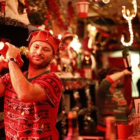 Bartenders dress up in holiday outfits at Miracle on Liberty