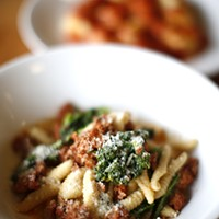 The housemade cavatelli and sausage