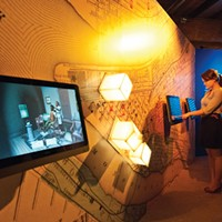Visitors can explore Underground Railroad sites in Pittsburgh on touch screen interactives in the History Center's From Slavery to Freedom exhibition.