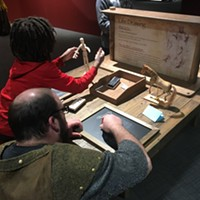 Life drawing station at <i>Da Vinci The Exhibition</i>