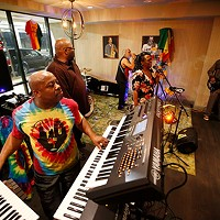 The Flow Band performs at the Indigo Hotel in East Liberty.