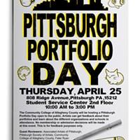 Pittsburgh portfolio day poster