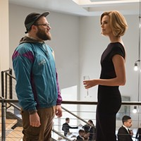 Seth Rogen and Charlize Theron in <i>Long Shot</i>
