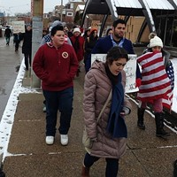 Young Pittsburgh immigrants and Dreamers march in a protest in 2017.