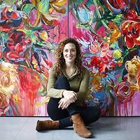 Cara Livorio with her artwork