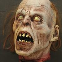 Foam latex Romero zombie head.