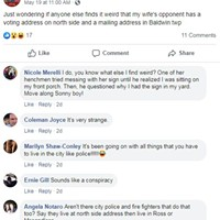 Sean Russell's Facebook post accusing Olivia Bennett