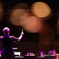 Maria Sensi Sellner conducts the Resonance Chamber Orchestra.