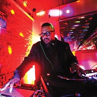 DJ Nate Da Barber hosts Carmi's Supper Club.