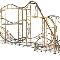 The Steel Curtain roller coaster
