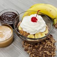 A Bruster's peanut butter banana sundae