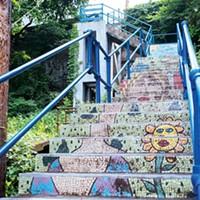 The Oakley Street steps