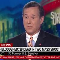 Former Pa. senator Rick Santorum said a lot of wrong things about gun control this weekend
