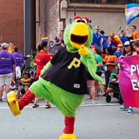 The Pirate Parrot in Pittsburgh's 2019 Pride Equality March