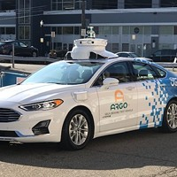 An Argo AI autonomous vehicle in the Strip District