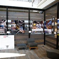 The American Institute of Architects exhibit on display inside Nova Place