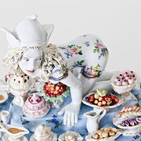 """Covet"" (detail) from <i>Forbidden Fruit: Chris Antemann®</i> at Meissen, Oct. 3 at The Frick Art & Historical Center"
