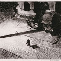 "Edward Hopper's etching ""Night Shadows"" (1921)"