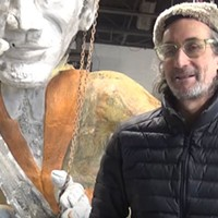 Pittsburgh artist James Simon opens his Uptown studio to show giant musician sculptures