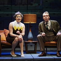 "Elizabeth Rich, as Marta Rudolph, and Jonathan Tindle, as Arthur Rudolph, in ""Some Brighter Distance."""