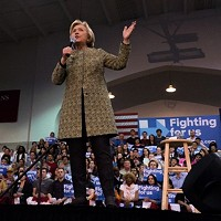 Presidential candidate Hillary Clinton visits Pittsburgh at Carnegie Mellon University rally
