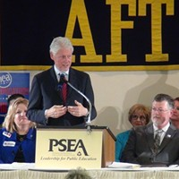 Former President Bill Clinton visits Pittsburgh to stump for Hillary