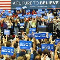 Presidential candidate Bernie Sanders holds rally at Pitt on final day before Pennsylvania primary elections
