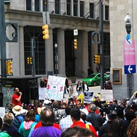 Pittsburgh Protesters march against conservative American Legislative Exchange Council (ALEC)