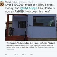 Pittsburgh's tiny house keeps popping up on Airbnb, could be a violation of its URA loan