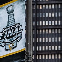 Pittsburgh cheers on the Penguins outside Consol Energy Center during Game 2 of the Stanley Cup Finals
