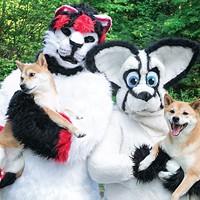 Kato and Freya with Hitomi and Yoshiko