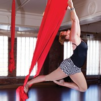 Aerial silk at Pittsburgh Dance Center