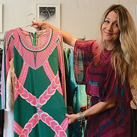 "Juju owner Leslie McAllister describes her store's style as ""gypsy witch."""