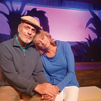 Ken Lutz and Cindy Swanson in <i>Better Late</i>, at South Park Theatre