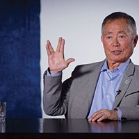 <i>Star Trek</i>'s George Takei shows off his Vulcan.