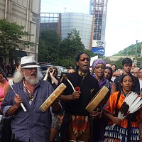 Pittsburgh activists block street to protest Dakota pipeline