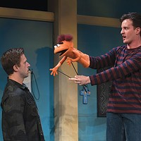 Michael Greer (left) and Nick LaMedica in <i>Hand to God</i>, at City Theatre