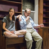 Cathryn Dylan and Martin Giles in <i>I'm Gonna Pray for You So Hard</i>, at The REP