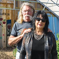Tina and Thomas Walker in Millvale's community garden